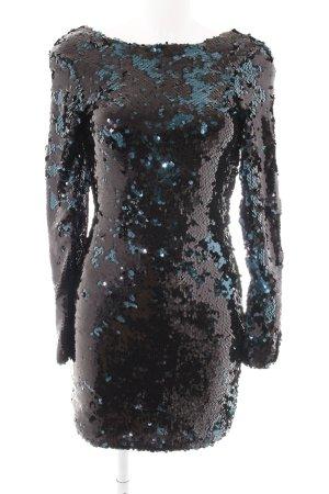 Zara Vestido de lentejuelas negro-petróleo estilo fiesta