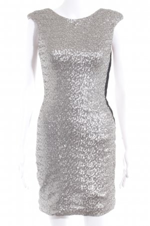 Zara Abito con paillettes argento stile festa