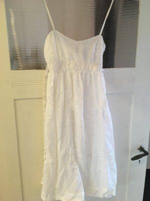Zara Basic Robe empire blanc coton