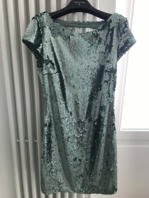 ZARA Pailletten Kleid Lindgrün matt, XS / 34, einmal getragen.