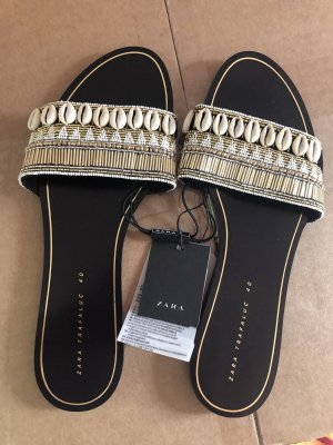 Zara Sabots black-gold-colored