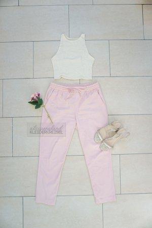 Zara Paperbag Chino Hose rosa