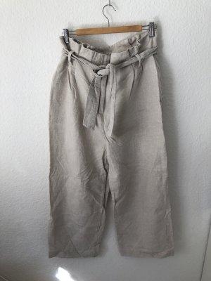 Zara Culotte beige clair-blanc cassé