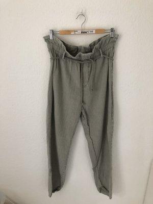 Zara Paperbag Jeans Hellgrau