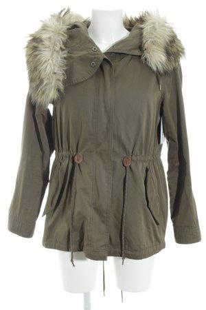 Zara Parka khaki-olivgrün Casual-Look