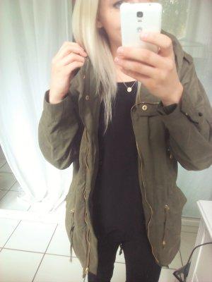 Zara Parka khaki Übergangsjacke