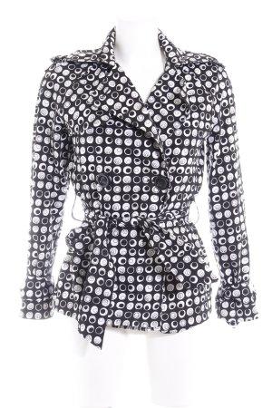 Zara Parka schwarz-weiß Punktemuster Casual-Look