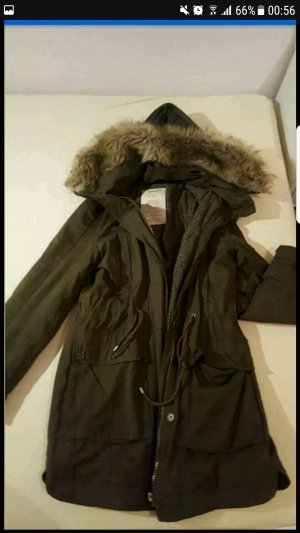 Zara parka wintermantel khaki