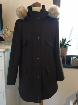 Zara Parka marrone scuro
