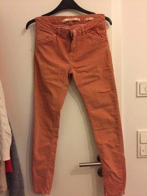 Zara Pantalon strech saumon-abricot