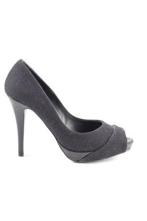 Zara Peep Toe Pumps zwart zakelijke stijl
