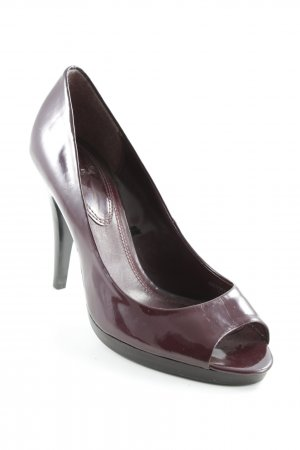 Zara Peeptoe Pumps bordeauxrot Business-Look