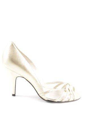 Zara Peeptoe Pumps goldfarben Elegant
