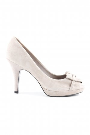 acc0bd94e7a6b1 Zara Peeptoe Pumps hellbeige Country-Look
