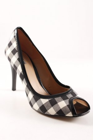 Zara Peeptoe Pumps Karomuster Brit-Look