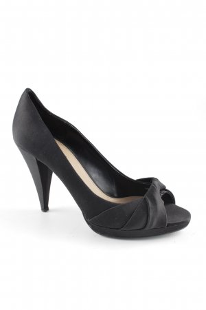 Zara Peeptoe Pumps schwarz Business-Look