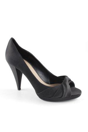 Zara Tacones con punta abierta negro estilo «business»
