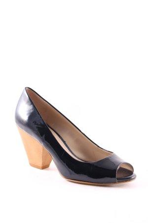 Zara Peeptoe Pumps schwarz-hellbraun extravaganter Stil
