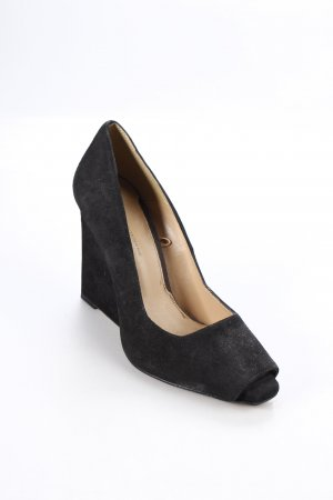 Zara Peeptoe Pumps schwarz Urban-Look