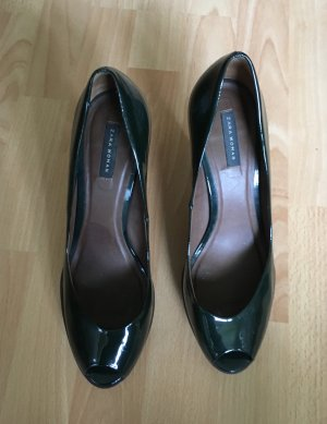 Zara Peeptoes Flaschengrün 41 Pumps