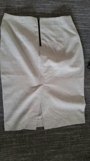 Zara Pencil Skirt M Grau Struktur