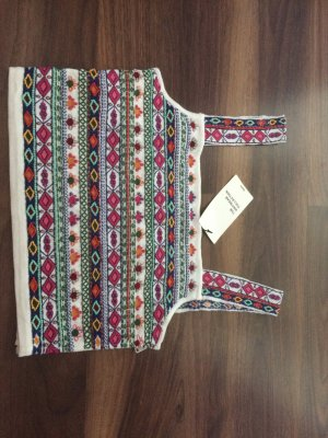 Zara Perlen Crop Top