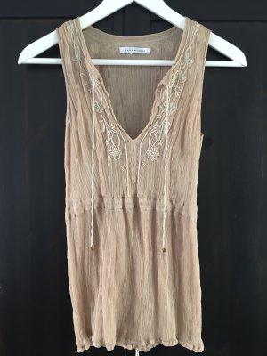 Zara Perlen top Oberteil Shirt S