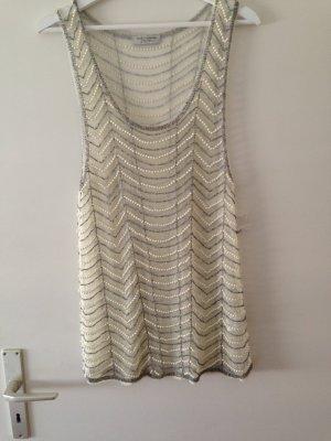 Zara Top long blanc cassé nylon