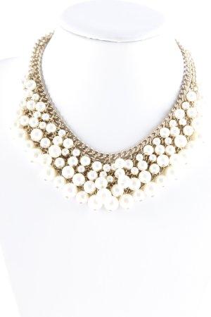 Zara Perlenkette goldfarben-weiß Elegant