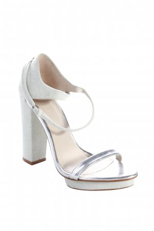 Zara Platform High-Heeled Sandal mint-silver-colored