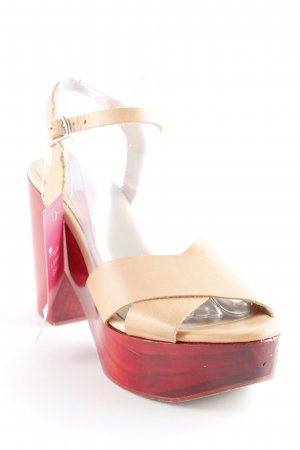 Zara Plateau-Sandaletten nude-rot extravaganter Stil