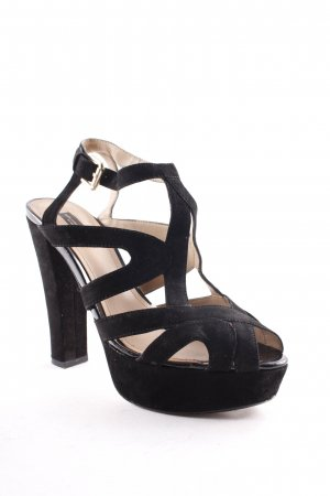 Zara Platform High-Heeled Sandal black elegant