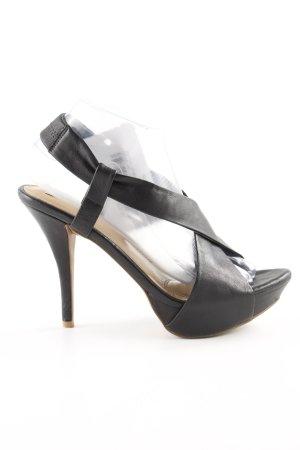 Zara Sandales à talons hauts et plateforme noir gradient de couleur