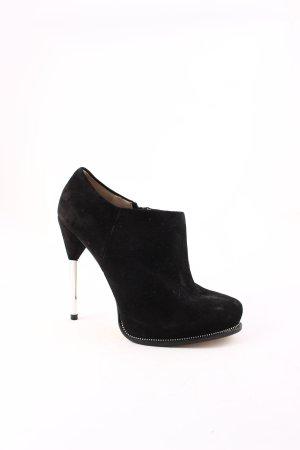 Zara Plateau-Stiefeletten schwarz Elegant