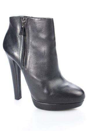 Zara Plateau-Stiefeletten schwarz klassischer Stil
