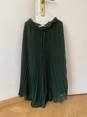 Zara Plissee Hose Plisseehose 34 XS dunkelgrün grün aktuelle Kollektion