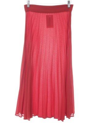 Zara Pleated Skirt dark red elegant