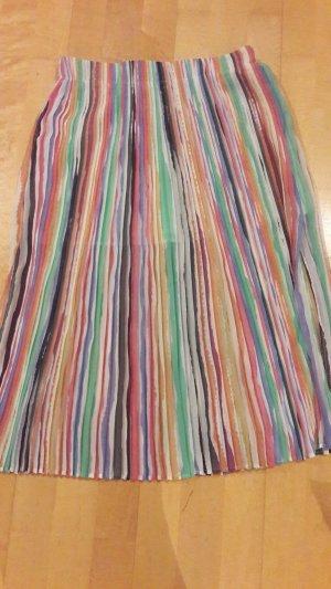 Zara Plisseerock Regenbogenfarben