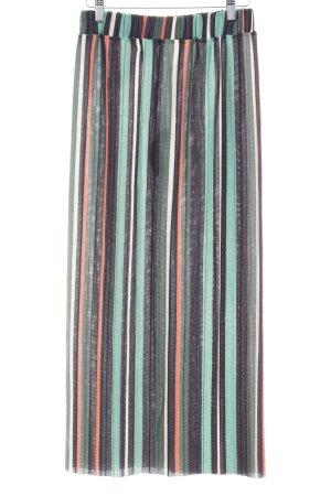 Zara Pleated Skirt striped pattern casual look
