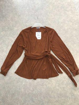 Zara Blouse à manches longues bronze-rouille