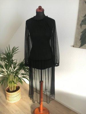 Zara Plumetiskleid Kleid transparent 36 S