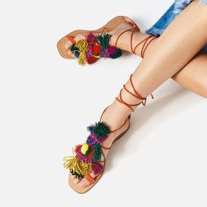 Zara Romeinse sandalen veelkleurig