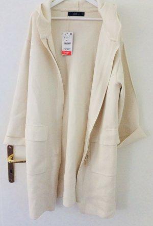 Zara Manteau oversized doré-blanc cassé