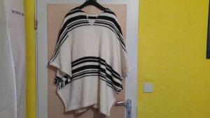 Zara Poncho Schwarz & Weiß Größe 38