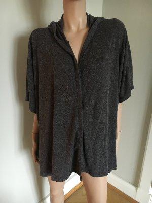 Zara Mode gris anthracite-argenté polyester