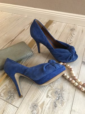 Zara PRE FALL COLLECTION 2014 Azur blau Peeptoe Gr.38