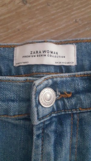 Zara Vaquero de talle alto azul aciano