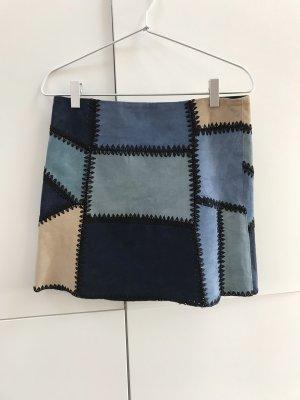 Zara Leather Skirt multicolored