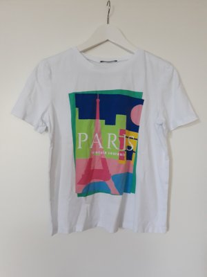 "Zara Print Shirt ""Paris"" Gr.S"