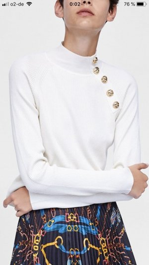 Zara Pull-over à col roulé blanc